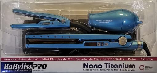Imagen de Combo Babyliss 812130 Nano + Mini 1 1/4+ Secadora 1/2